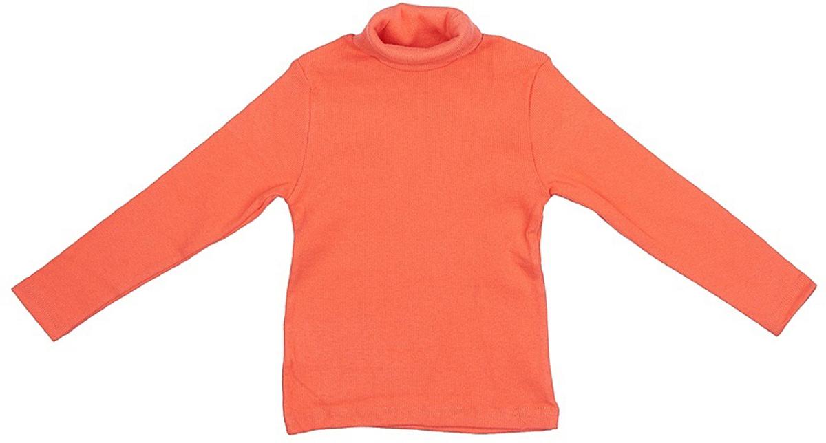 Водолазка для девочки JimJim, цвет: абрикосовый. DP108. Размер 122DP108Великолепная детская водолазка JimJim идеально подойдет вашему ребенку. Изготовленная из натурального хлопка с добавлением эластана, она необычайно мягкая и приятная на ощупь, не сковывает движения малыша и позволяет коже дышать, не раздражает даже самую нежную и чувствительную кожу ребенка, обеспечивая ему наибольший комфорт. Водолазка классического кроя с длинными рукавами и воротником-гольф. Оригинальный современный дизайн и модная расцветка делают эту водолазку модным и стильным предметом детского гардероба.