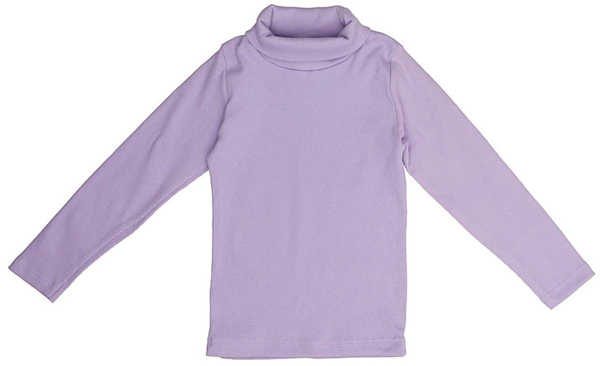 Водолазка для девочки JimJim, цвет: сиреневый. DP109. Размер 110DP109Великолепная детская водолазка JimJim идеально подойдет вашему ребенку. Изготовленная из натурального хлопка с добавлением эластана, она необычайно мягкая и приятная на ощупь, не сковывает движения малыша и позволяет коже дышать, не раздражает даже самую нежную и чувствительную кожу ребенка, обеспечивая ему наибольший комфорт. Водолазка классического кроя с длинными рукавами и воротником-гольф. Оригинальный современный дизайн и модная расцветка делают эту водолазку модным и стильным предметом детского гардероба.