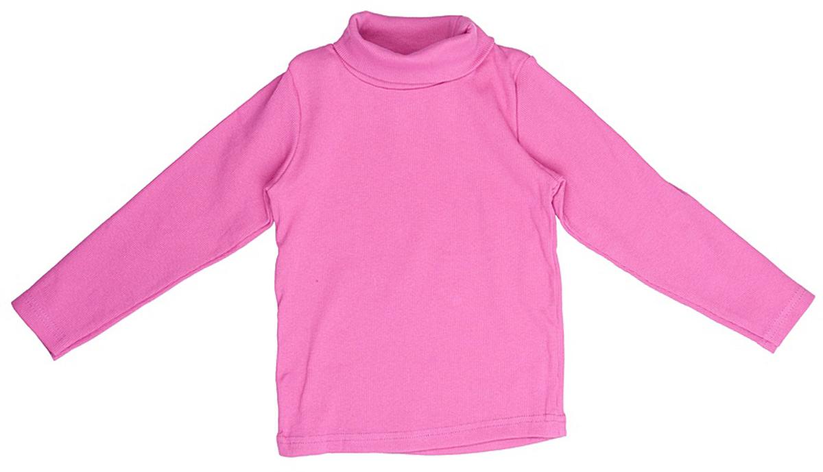 Водолазка для девочки JimJim, цвет: малиновый. DP110. Размер 92DP110Великолепная детская водолазка JimJim идеально подойдет вашему ребенку. Изготовленная из натурального хлопка с добавлением эластана, она необычайно мягкая и приятная на ощупь, не сковывает движения малыша и позволяет коже дышать, не раздражает даже самую нежную и чувствительную кожу ребенка, обеспечивая ему наибольший комфорт. Водолазка классического кроя с длинными рукавами и воротником-гольф. Оригинальный современный дизайн и модная расцветка делают эту водолазку модным и стильным предметом детского гардероба.