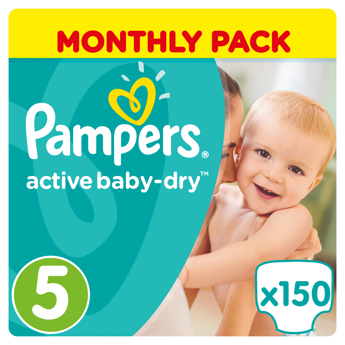 Pampers Подгузники Active Baby-Dry 11-18 кг Junior 150 шт подгузники pampers active baby dry размер 4 7 14 кг 132 шт