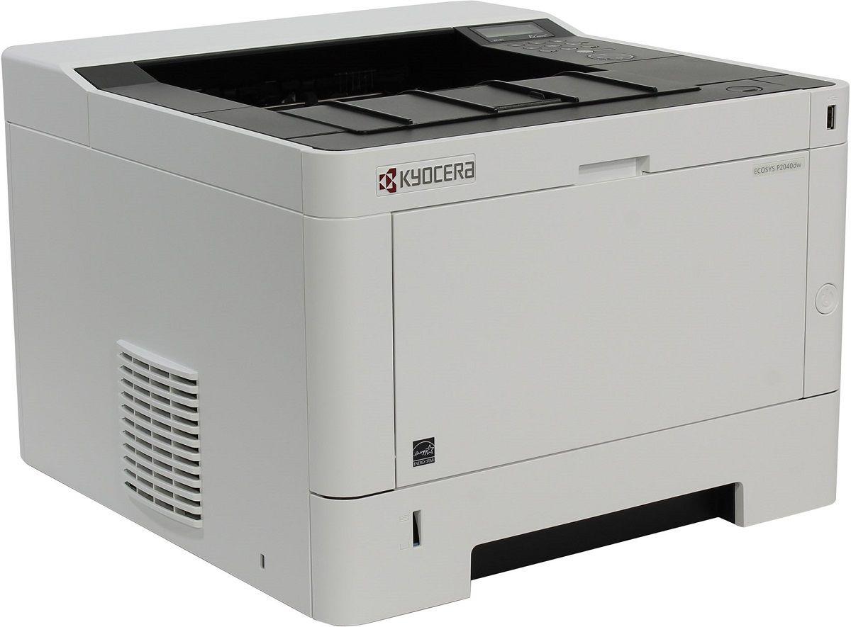 Kyocera Ecosys P2040dw лазерный принтерP2040dwKyocera P2040dw Ecosys - надежный и универсальный черно-белый принтер формата А4 для офиса.Минимальное время выхода первого отпечатка и улучшенная скорость печать до 40 страниц в минуту в сочетании с функциональностью двусторонней печати в стандартной комплектации, сетевой совместимостью, высокой подающей емкостью и Wi-Fi в стандартной комплектации (P2040dw) позволят Вам повысить качество Вашего документооборота, а долговечные энергоэффективные компоненты устройств станут залогом низкой общей стоимости владения.Ну и конечно, устройства Kyocera традиционно отличаются образцовой надежностью и производительностью, отвечающей самым высоким ожиданиям.Двусторонняя печать в стандартной комплектацииUSB и сетевая совместимость в стандартной комплектацииДолговечные компоненты для непревзойденной надежностиИсключительно низкие затраты на печать в своем классе Струйный или лазерный принтер: какой лучше? Статья OZON Гид