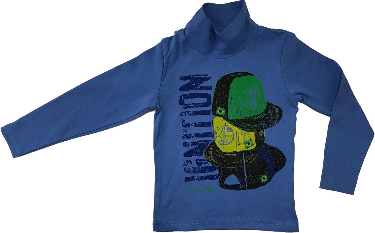 Водолазка для мальчика Arge Fashion, цвет: светло-синий. MRM-15B-42 7003-5. Размер 122MRM-15B-42 7003-5Водолазка для мальчика Arge Fashion выполнена из 100% хлопка. Модель с воротником-гольф и длинными рукавами на груди оформлена ярким принтом.