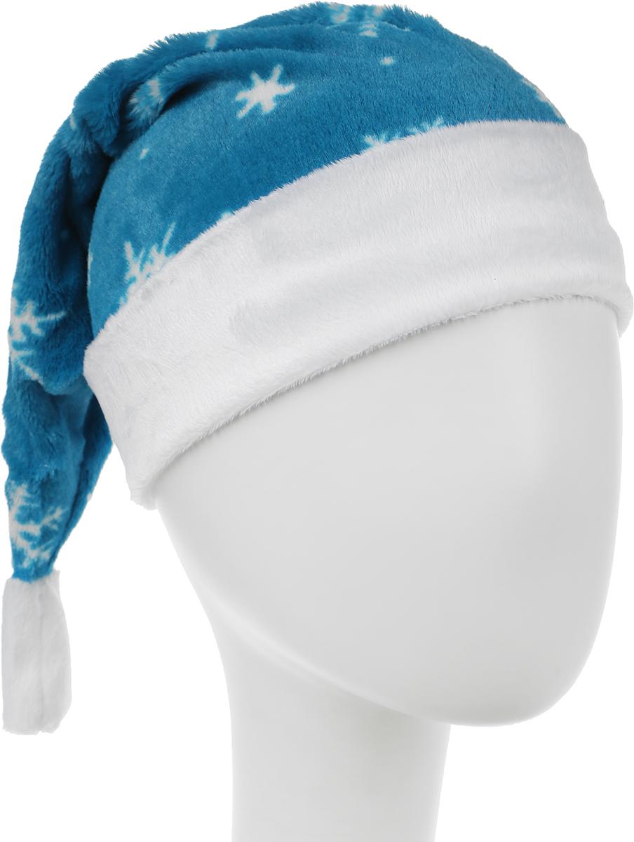 Колпак новогодний, цвет: голубой. Размер 53-55 см. 2512825
