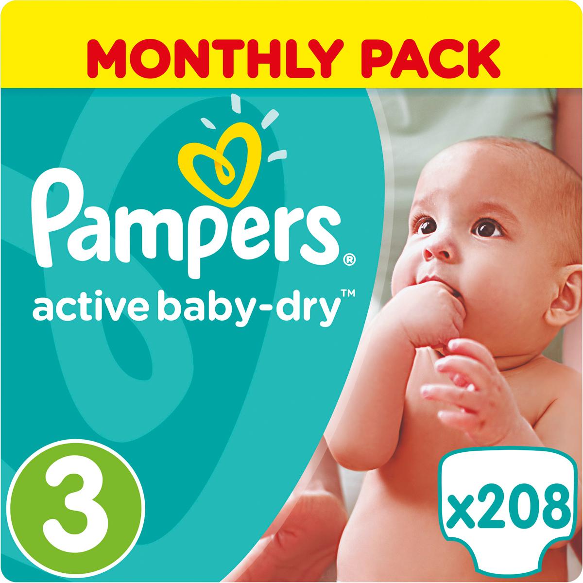 Pampers Подгузники Active Baby-Dry 5-9 кг Midi 208 шт