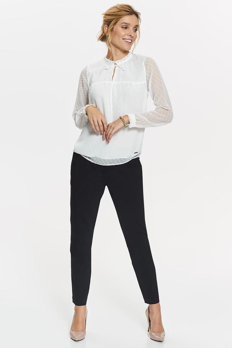 Блузка женская Top Secret, цвет: белый. SBD0763BI. Размер 34 (42)SBD0763BIБлузка женская Top Secret выполнена из полиэстера. Модель с воротником стойкой и длинными рукавами.