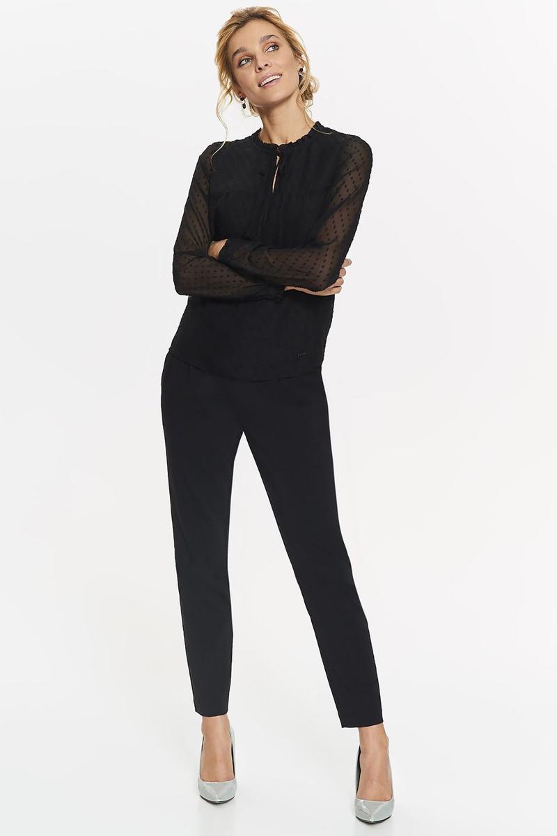 Блузка женская Top Secret, цвет: черный. SBD0764CA. Размер 36 (44)SBD0764CAБлузка женская Top Secret выполнена из полиэстера. Модель с круглым вырезом горловины и длинными рукавами.