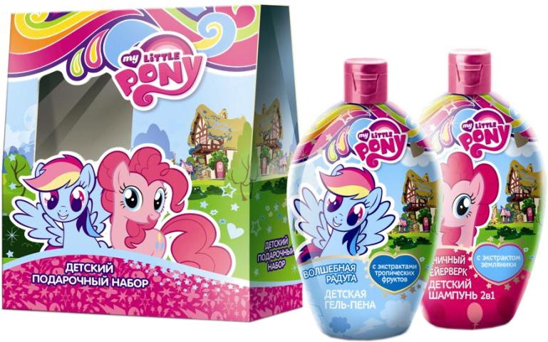 My Little Pony Набор детской косметики для ухода 3246332463Нежный шампунь бережно очищает и распутывает волосики, питает и увлажняет, защищает от вредного воздействия окружающей среды. Любимая гель-пена маленьких пони с вкусным ароматом карамели! Мягкий гель для душа и пушистая пена для ванн в одном флаконе!Товар сертифицирован.