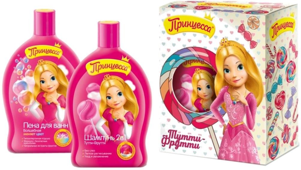 Принцесса Набор детской косметики для ухода Тутти-фрутти 3842738427Набор детской косметики для ухода Тутти-фрутти от бренда Принцесса осчастливит каждую юную модницу.В набор входят: - шампунь 2в1; - пена для ванн. С использование шампуня Тутти-фрутти волосы вашей принцессы станут мягкими и послушными. Мытье и расчесывание волос станут только врадость! Шампунь не содержит SLS и парабенов. Данная косметическая продукция без красителей и аллергенов. Пена для ванн Тутти-фруттиимеет приятный запах. Эта пена поможет полностью расслабить тело вашего ребенка и после крепко уснуть. Проведены клиническиеисследования. Подходит для частого применения. Пена меняет цвет!