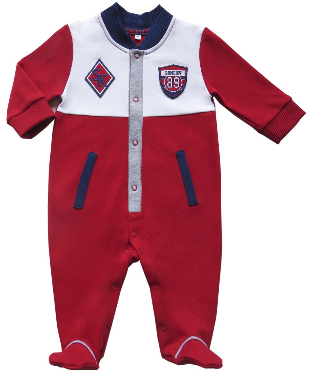 Комбинезон домашний для мальчика Soni Kids Спортивная Академия, цвет: красный. З6102001. Размер 74 soni kids кофточка