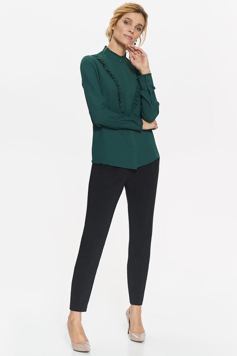 Фото Рубашка женская Top Secret, цвет: темно-зеленый. SKL2379CZ. Размер 42 (50)
