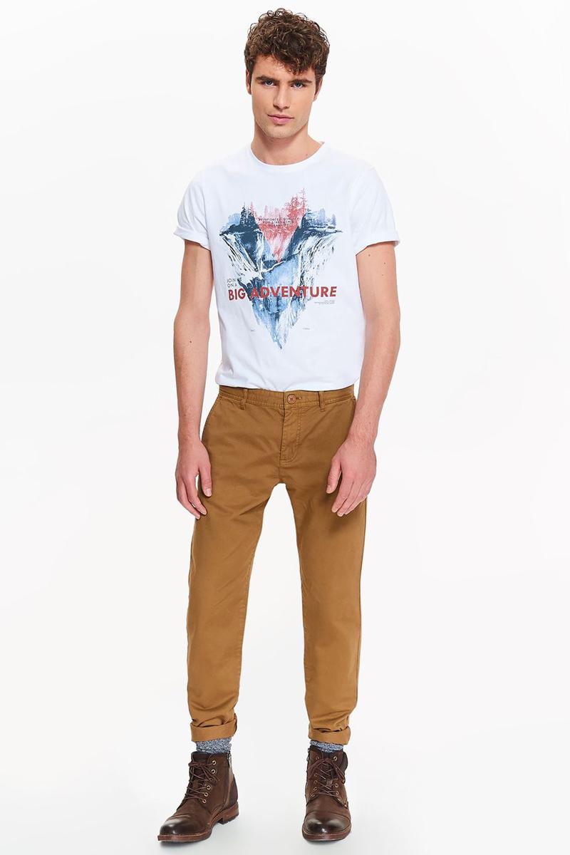 Брюки мужские Top Secret, цвет: бежевый. SSP2659BE. Размер 33 (48/50)SSP2659BEСтильные мужские брюки Top Secret - брюки высочайшего качества на каждый день, которые прекрасно сидят. Модель изготовлена из натурального хлопка. Застегиваются брюки на пуговицу в поясе и ширинку на молнии, имеются шлевки для ремня. Эти модные и в тоже время комфортные брюки послужат отличным дополнением к вашему гардеробу. В них вы всегда будете чувствовать себя уютно и комфортно.