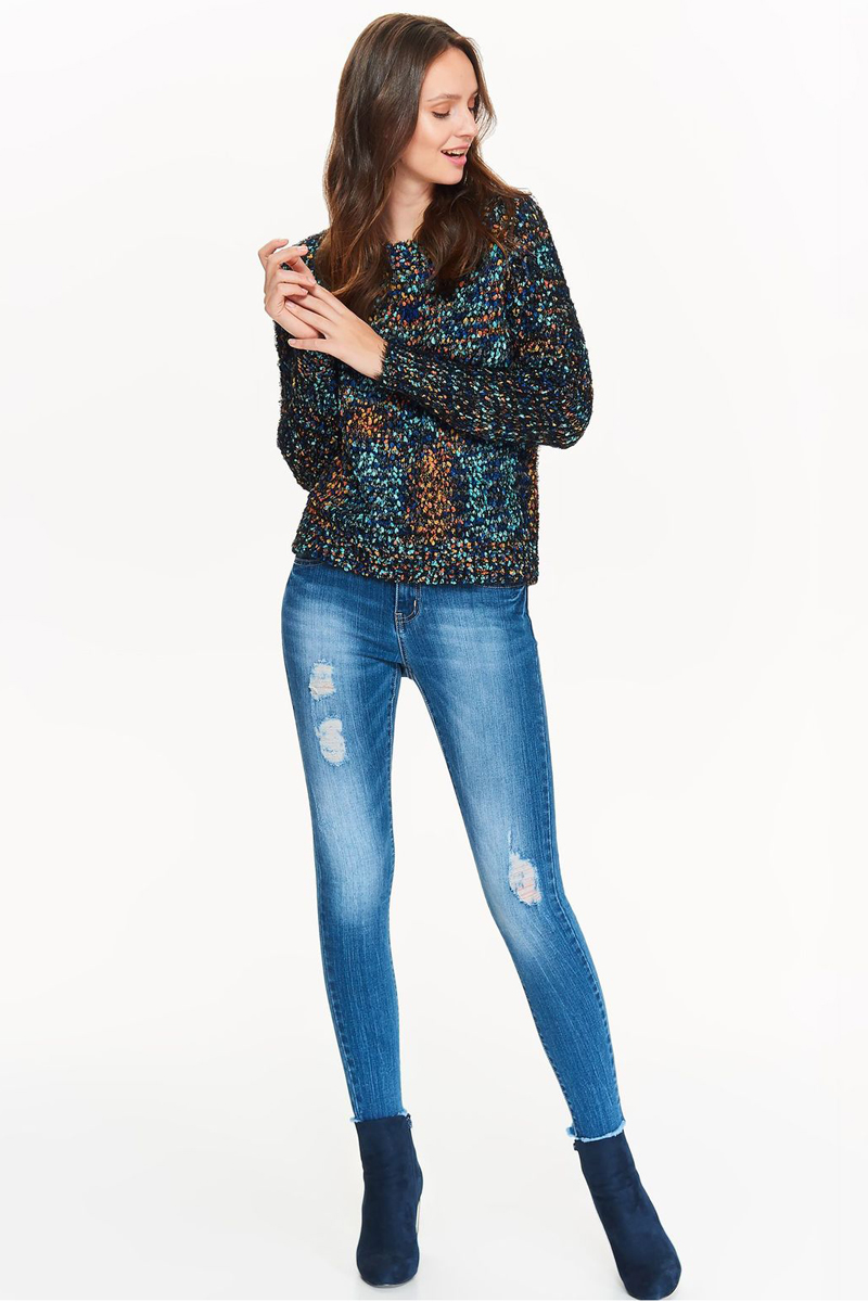 Джемпер женский Top Secret, цвет: синий. SSW2220NI. Размер 42 (50)SSW2220NIДжемпер женский Top Secret выполнен из полиэстера. Модель с круглым вырезом горловины и длинными рукавами.