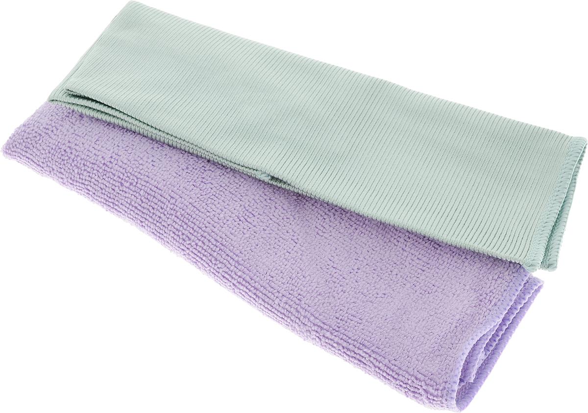 Салфетки для мытья окон Чистюля, цвет: фиолетовый, серый, 35 х 35 см, 2 штМФ011_фиолетовый, серыйСалфетка Чистюля выполнена из микрофибры (полиэстер и полиамид) и поролона. Изделие отлично впитывает влагу, не оставляет разводов, быстро сохнет, сохраняет яркость цвета и не теряет форму даже после многократных стирок. Салфетка подходит для мытья окон и зеркал. Протертая поверхность становится идеально чистой, сухой и блестящей.Такая салфетка очень практична и неприхотлива в уходе.Размер салфетки: 35 х 35 см.