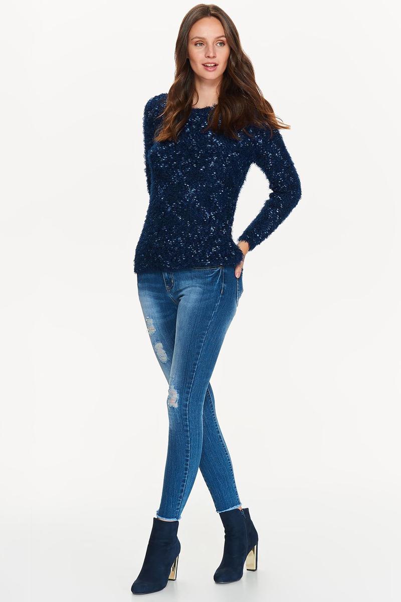 Джемпер женский Top Secret, цвет: темно-синий. SSW2221GR. Размер 42 (50)SSW2221GRДжемпер женский Top Secret выполнен из полиэстера. Модель с круглым вырезом горловины и длинными рукавами.