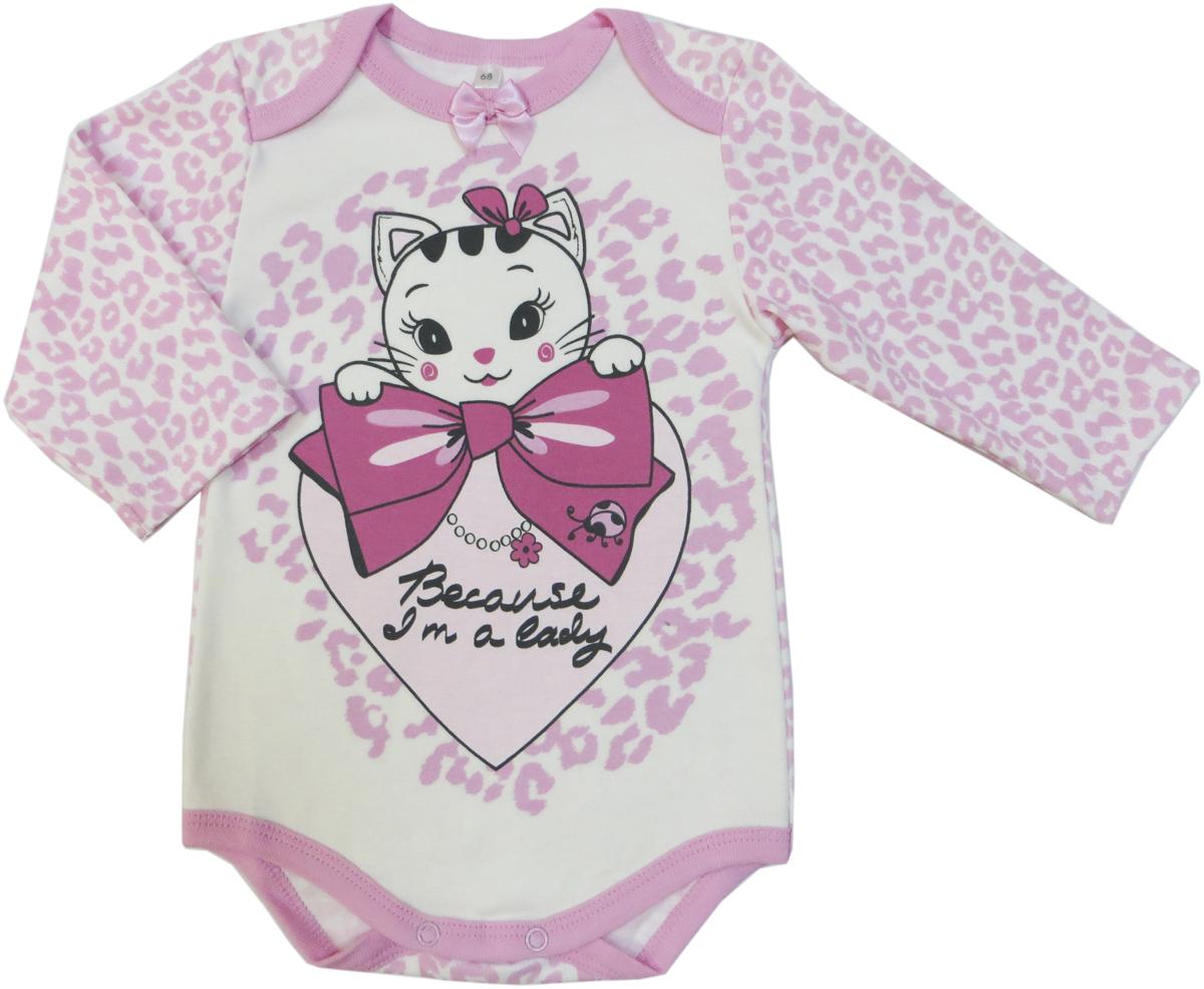 Боди для девочки Soni Kids Маленькая Леди, цвет: розовый. З7101001. Размер 80 soni kids боди