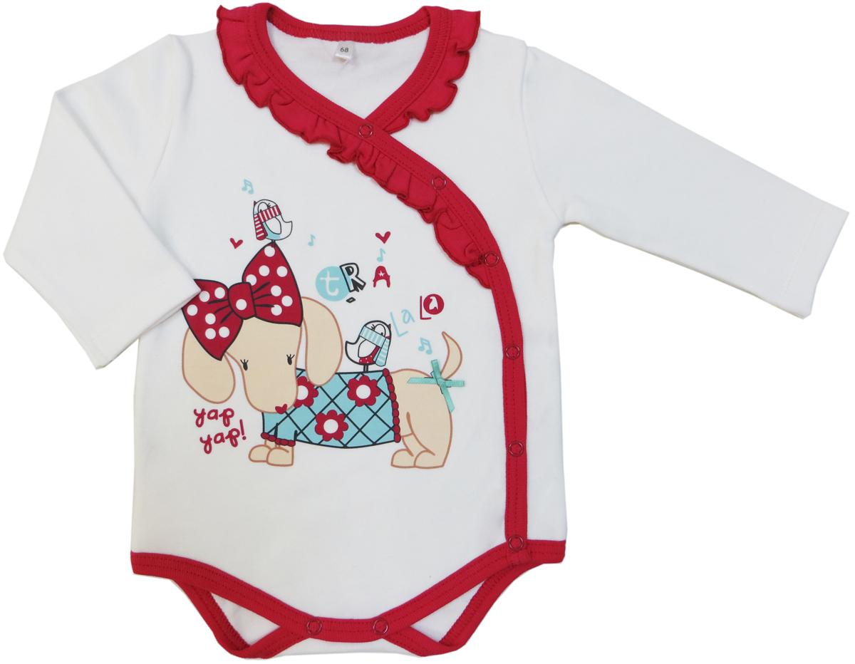 Боди для девочки Soni Kids Прогулка с Мими, цвет: белый. З7101010. Размер 80 soni kids кофточка