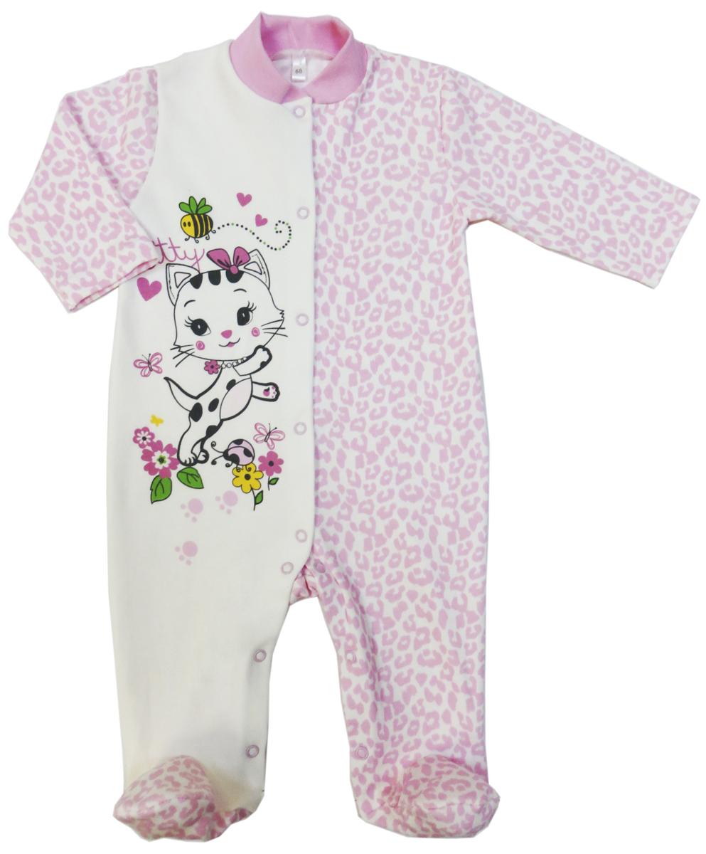 Комбинезон домашний для девочки Soni Kids Маленькая Леди, цвет: розовый, белый. З7102001. Размер 62З7102001Комбинезон для девочки Soni Kids выполнен из натурального хлопка. Комбинезон с воротником-стойкой, длинными рукавами и закрытыми ножками имеет застежки-кнопки спереди и на ластовице, которые помогают легко переодеть младенца или сменить подгузник. Изделие оформлено принтом.