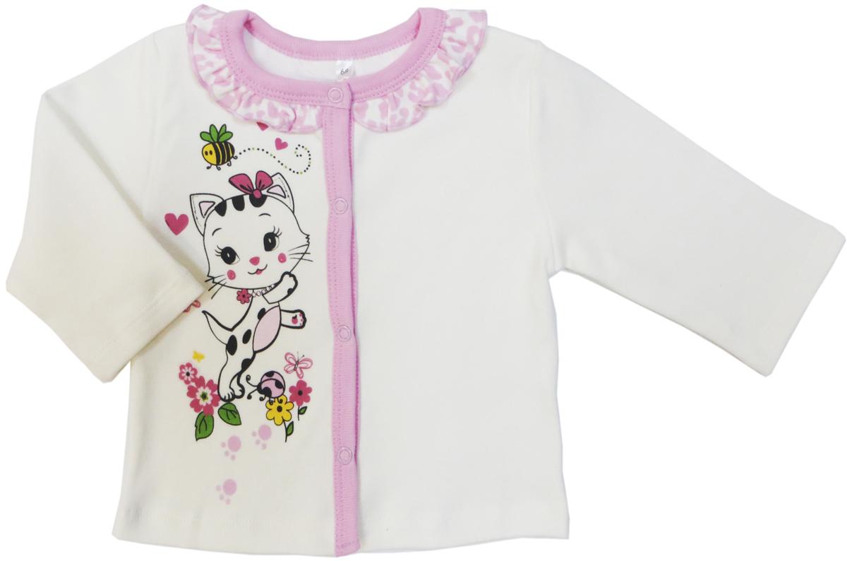 Кофта для девочки Soni Kids Маленькая Леди, цвет: белый. З7111001. Размер 68 водолазки и лонгсливы zeyland кофта для девочки 72z4tav61