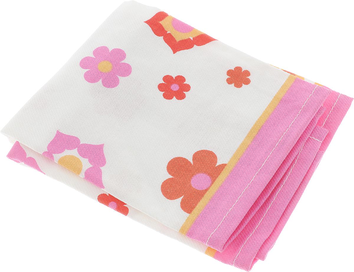 Полотенце кухонное Bonita, цвет: белый, розовый, оранжевый, 44 х 59 см полотенце кухонное bonita белые росы цвет белый бежевый 35 х 61 см