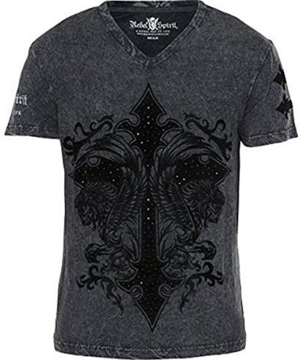 Футболка мужская Rebel Spirit, цвет: черный. SSK151763. Размер XL (52) футболка мужская rebel spirit цвет черный ssk151763 размер xl 52