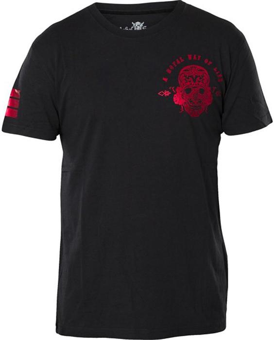 Футболка мужская Rebel Spirit, цвет: черный. SSK141640. Размер XXXL (56)SSK141640Стильная мужская футболка от Rebel Spirit, выполненная из натурального хлопка, отлично дополнит ваш образ. Модель с круглым вырезом горловины и короткими рукавами оформлена оригинальным принтом с названием бренда.
