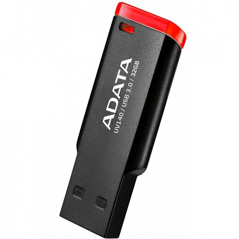 ADATA UV140 32GB, Black Red USB флеш-накопитель23325Накопитель UD 3.0 ADATA 32GB UV140 Black-Red (AUV140-32G-RKD) 35MB/s 10MB/s