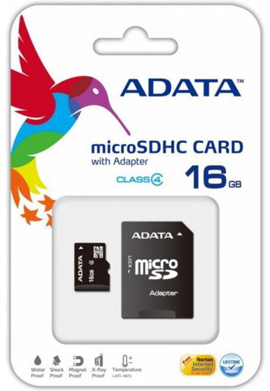 ADATA microSDHC Class4 16GB карта памяти (AUSDH16GCL4-ROTGMBK)23364Карта памяти microSDHC 16GB ADATA Class4 (AUSDH16GCL4-ROTGMBK) + OTG reader