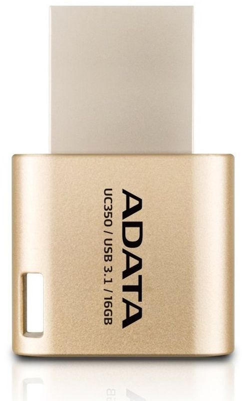 ADATA AUC350 16GB, Golden USB флеш-накопитель23529Накопитель UD 3.0 ADATA 16GB AUC350 golden (AUC350-16G-CGD) 100MB/s 30MB/s Type-C
