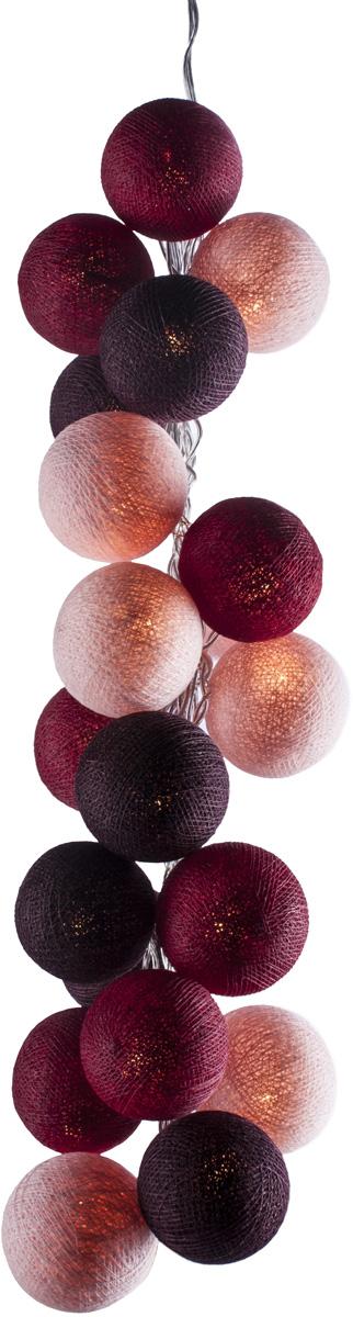 Гирлянда электрическая Гирляндус Шорле, из ниток, LED, 220В, 20 ламп, 3 м4670025840200Нежная гирлянда ручной работы. Каждый шарик сделан вручную из ниток и клея, светится приятным мягким светом. Шарики хрупкие, но даже если вы их помнёте, их всегда можно выправить. Инструкция прилагается.