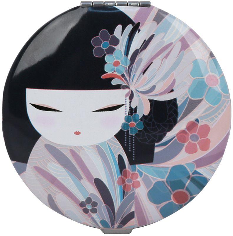 Зеркало косметическое Kimmidoll Намика, цвет: голубой, диаметр 7 смKF1173Карманное зеркальце - необычный и очень приятный подарок подруге, маме или коллеге. Зеркало двойное, одно обычное, второе увеличивающее.