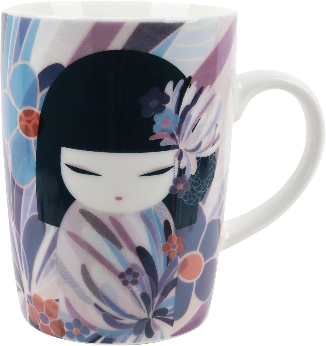Кружка Kimmidoll Намика, цвет: голубой, 300 млKH0987Элегантная фарфоровая кружка, которая оформлена в традиционном японском стиле. Понравится всем ценителям прекрасного.