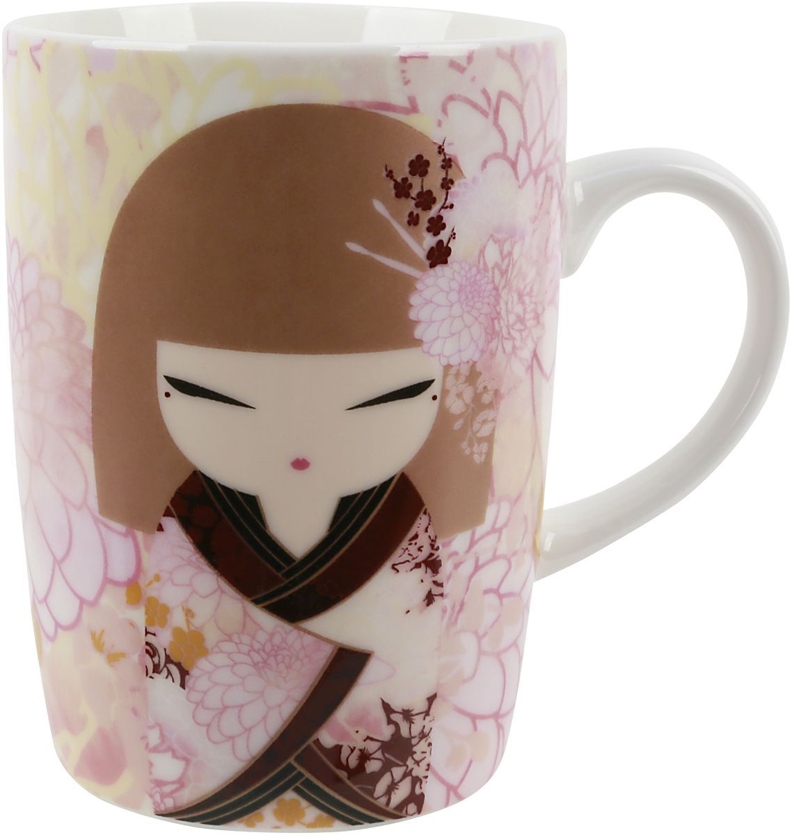 Кружка Kimmidoll Хидека, цвет: светло-розовый, 300 млKH0989Элегантная фарфоровая кружка, которая оформлена в традиционном японском стиле. Понравится всем ценителям прекрасного.
