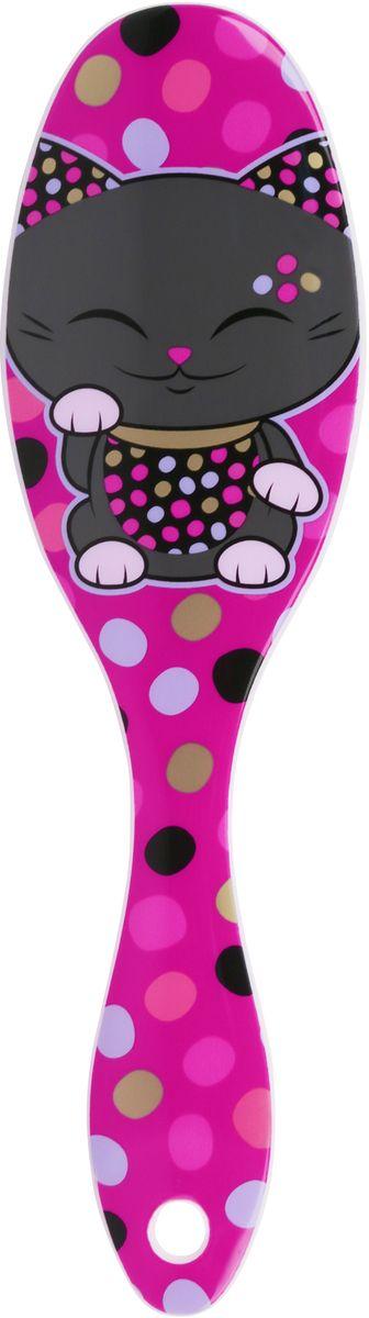 Mani The Lucky Cat Расческа для волос, цвет: сиреневый. MF069MF069Забавная расческа для волос с изображением Кота Удачи, который приносит успех во всем. Понравится всем ценителям прекрасного и необычного.