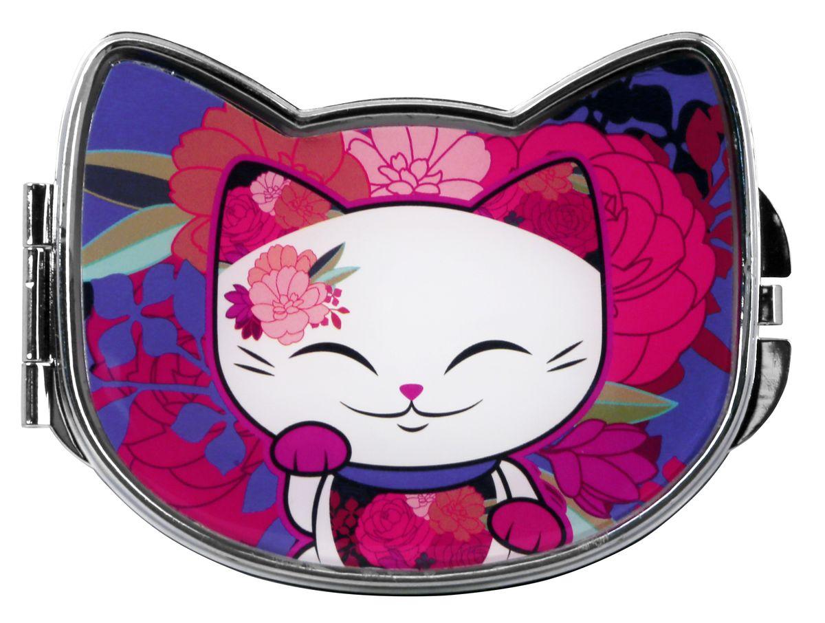 Зеркало косметическое Mani The Lucky Cat Кот Удачи, цвет: розовый, 9,2 х 7,5 см. MF071MF071Забавное карманное зеркальце с изображением Кота Удачи, который приносит успех во всем. Понравится всем ценителям прекрасного и необычного.