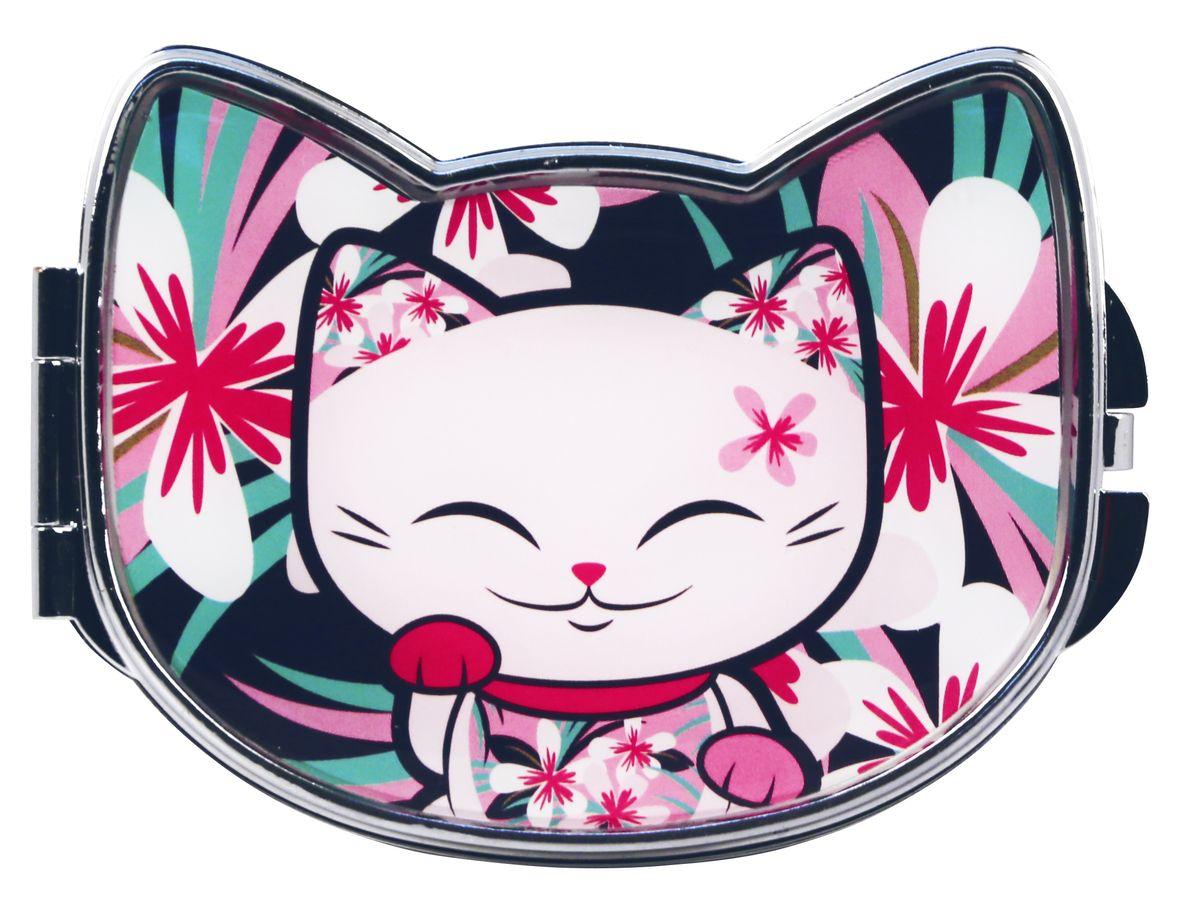 Зеркало косметическое Mani The Lucky Cat Кот Удачи, цвет: розовый, 9,2 х 7,5 см. MF072MF072Забавное карманное зеркальце с изображением Кота Удачи, который приносит успех во всем. Понравится всем ценителям прекрасного и необычного.