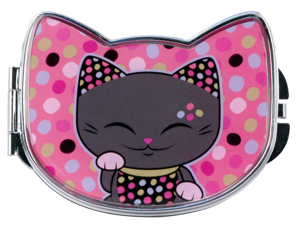 Зеркало косметическое Mani The Lucky Cat Кот Удачи, цвет: розовый, 9,2 х 7,5 см. MF073MF073Забавное карманное зеркальце с изображением Кота Удачи, который приносит успех во всем. Понравится всем ценителям прекрасного и необычного.