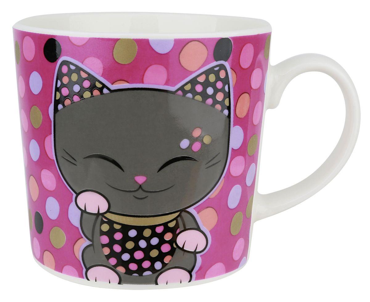 купить Кружка Mani The Lucky Cat Кот Удачи, цвет: фиолетовый, 350 мл дешево