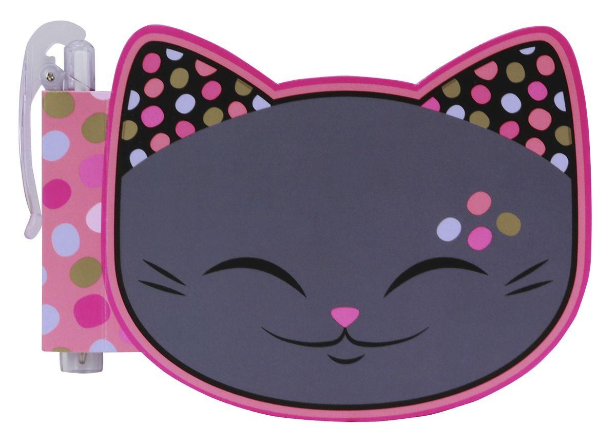 купить Mani The Lucky Cat Блокнот Кот Удачи цвет серый с ручкой дешево