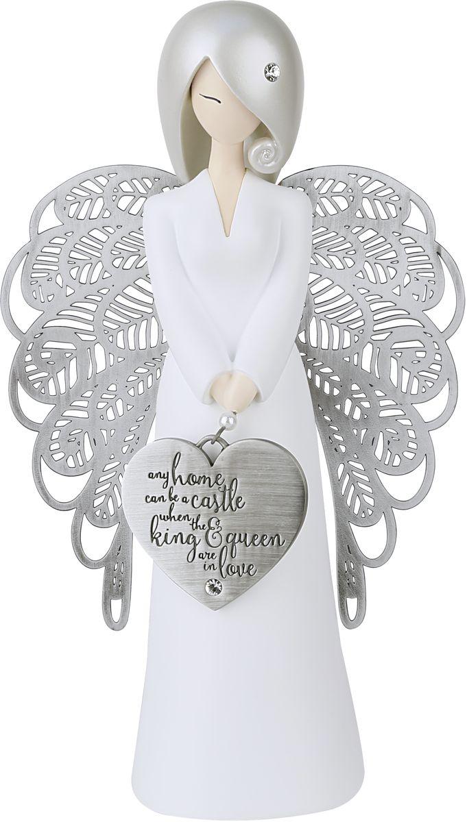 Статуэтка You are an Angel Когда король и королева любят друг друга, любой дом становится замком!, 10,5 x 17,5 смALF001Статуэтка You are an Angel выполнена из полирезина с элементами металла. На протяжении всей вашей жизни, вы встречаете людей, которые формируют ваше будущее различными способами.Это - ваши родные, близкие, родственники, друзья, с которыми вы дружите с детства, или просто знакомые, с которыми вы пересекаетесь на вашем жизненном пути. Они оставляют неизгладимые впечатления в вашей памяти и в вашей душе благодаря своей заботе, любви, поддержке и пониманию.Коллекция Вы - Ангел была создана, чтобы выразить особенные слова благодарности и признания этим значимым людям. Они - наши герои и образцы для подражания, которых мы никогда не забудем. Они - наши Ангелы!