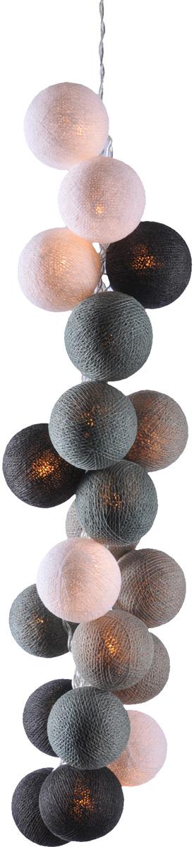 Гирлянда электрическая Гирляндус Чарли, из ниток, LED, 220В, 50 ламп, 7,5 м4670025843942Нежная гирлянда ручной работы. Каждый шарик сделан вручную из ниток и клея, светится приятным мягким светом. Шарики хрупкие, но даже если вы их помнёте, их всегда можно выправить. Инструкция прилагается.