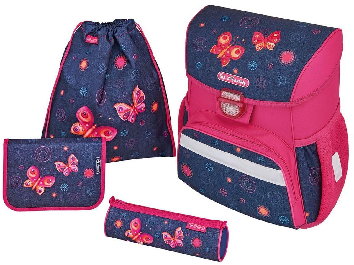Herlitz Ранец школьный Loop Plus Butterfly Dreams с наполнением 3 предмета herlitz ранец школьный smart butterfly