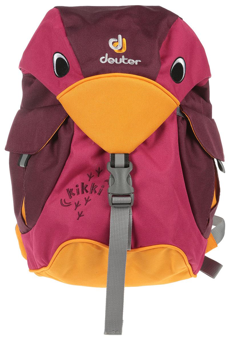 Рюкзак туристический детский Deuter Kikki, цвет: бордовый, оранжевый, 6 л туристический рюкзак deuter 80419 giga