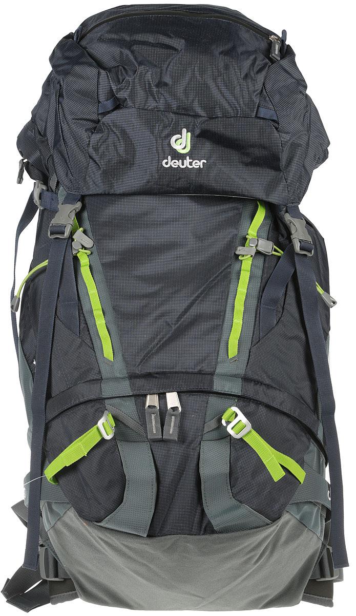 Рюкзак туристический Deuter Guide, цвет: серый, темно-синий, 45 л3361317_3400Рюкзак туристический Deuter Guide - это практичный, стильный и очень удобный рюкзак, который идеально подойдет для любителей альпинизма и трекинга. Рюкзак изготовлен из самых качественных и надежных материалов, которые позволят сохранить целостность и новый вид на долгое время. Внешний материал рюкзака с высокой износостойкостью защищен от повреждений острыми кромками скального рельефа. Рюкзак Deuter Guide 45 оснащен съемным набедренным поясом, клапаном, который регулируется по высоте, компрессионными ремнями. Туристический рюкзак имеет различные варианты крепления снаряжения: усиленные боковые стропы для крепления лыж, стропы для крепления кошек, петли для ледоруба, кольца на верхнем клапане для крепления дополнительных грузов, петли для крепления снаряжения на набедренном поясе. Рюкзак Deuter Guide 45 совместим с питьевой системой. В комплекте есть съемный коврик для сидения. Минимальный вес: 1340г. Общий вес: 1700г. Объем: 45 + 8 л. Размеры: 74 x 28 x 22 см.Что взять с собой в поход?. Статья OZON Гид