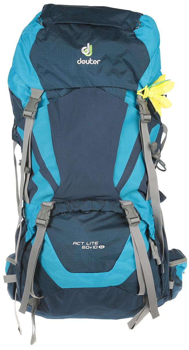 Рюкзак туристический Deuter ACT Lite, цвет: синий, 60 л рюкзак deuter act trail 22 sl petrol mint 3440015 3217