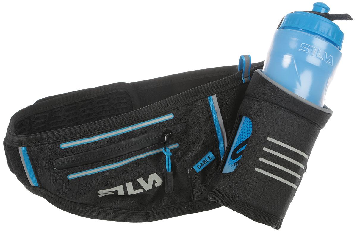 Пояс-разгрузка Silva Distance Frost Hydration belt, цвет: черный56039-1Стильная многофункциональная поясная сумка от компании Silva идеально подойдет для ежедневной носки, пешей прогулки, поездке на велосипеде. Поясная сумка Silva Distance Frost Hydration belt, изготовленная из 100% нейлона, оснащена регулируемым ремнем, сетчатым накладным карманом, втачным карманом на молнии, а также внутренним открытым карманом. Модель застегивается на широкую липучку. Бутылка для воды 0,5 л с двойными стенками для сохранения температуры напитка. На поясной сумке Silva Distance Frost Hydration belt имеются светоотражающие детали.
