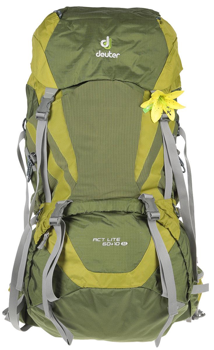 Рюкзак туристический Deuter ACT Lite, цвет: зеленый, 60 л deuter act lite 45 10 sl