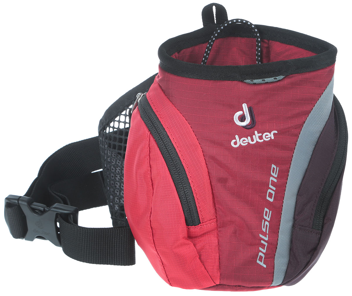 Сумка поясная Deuter Pulse One, цвет: красный, черный deuter giga blackberry dresscode