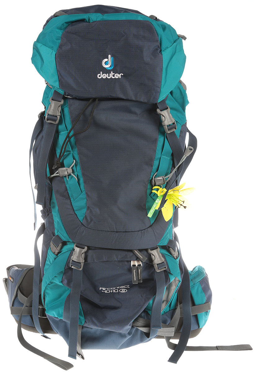 Рюкзак туристический Deuter Aircontact, цвет: голубой, 40 л3320016_3351Спортивный рюкзак идеально подходит для людей, предпочитающих пешие прогулки. Подвижные набедренные крылья отслеживают каждое ваше движение, помогая преодолевать самые сложные участки, не теряя равновесия. Эти крылья равномерно распределяют нагрузку на бедра, тем самым, экономя ваши силы и обеспечивая свободу движения.Параметры: - большой фронтальный клапан для прямого доступа; - подвижный пояс с крыльями Vari Flex и затяжкой Pull-Forward; - перфорированные алюминиевые стержни X-образного каркаса передают нагрузку на бедра; - боковые компрессионные стропы; - карман на молнии на крыле пояса; - верхний клапан, регулируемый по высоте; - карман в клапане; - внутренний карман для мелких вещей; - две линии петель daisy chains; - кольца крепления на верхней крышке клапана; - петли для крепления ледоруба и треккинговых палок; - отдельный отсек в нижней части; - компрессионные стропы внизу; - двухслойное дно; - съемный чехол от дождя; - карман для карт сбоку; - второй вместительный карман сбоку; - SOS лейбл; - совместимость с питьевой системой; - отделение для мокрой одежды.