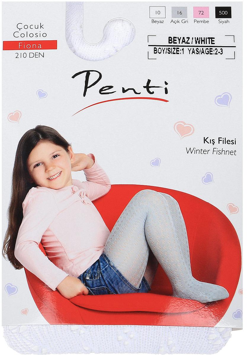 Фото Колготки для девочки Penti Fiona 150, цвет: белый. m0c0327-0079 PNT_10. Размер 1 (92/98)