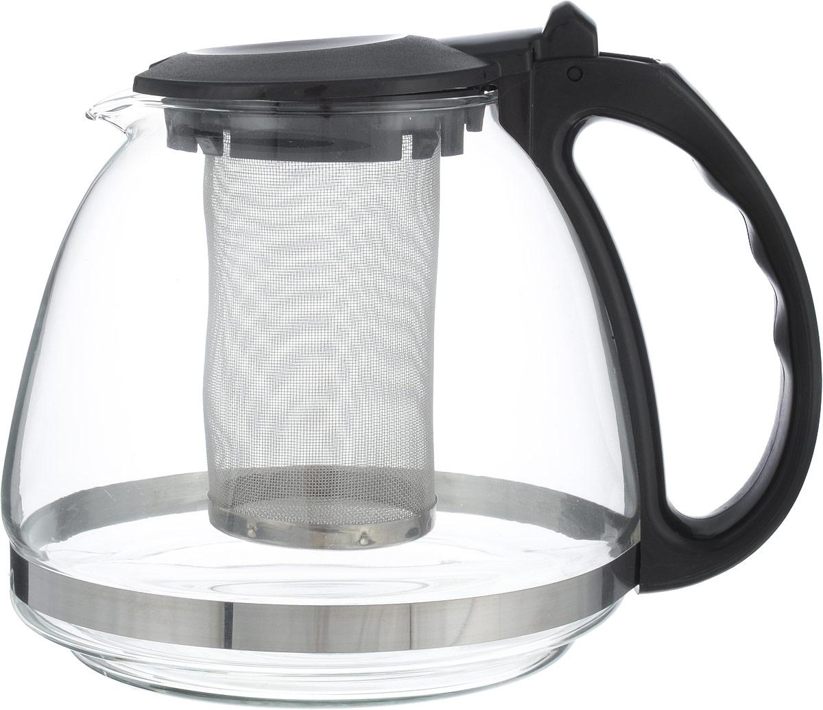 Чайник заварочный Irit, цвет: черный, 1,3 лKTZ-13-001Чайник заварочный изготовлен из термостойкого ненагревающегося пластика и ударостойкого жаропрочного стекла. Съемный фильтр-ситечко из высококачественной хромо-никелевой нержавеющей стали с мелкими ячейками для чая разных сортов и разной степени измельчения рассчитан на оптимальное количество заварки при разных объемах чайников. Аккуратный птичий носик, из которого чай течет непосредственно в чашку, а не по выпуклому брюшку чайника.Устойчивое основание. Небольшой вес.